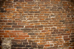 Brick Wall of European Castle Stock Photo