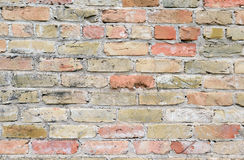 Brick wall facade on building Royalty Free Stock Images