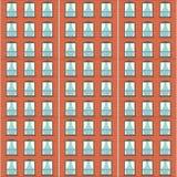 Brick wall facade pattern Stock Photo