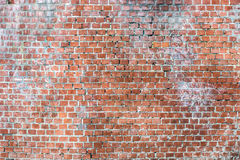 Brick wall. The facade view of the old brick wall for design background Stock Image