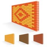 Brick wall of facing bricks. Royalty Free Stock Photography