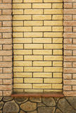 Brick wall of the fence Royalty Free Stock Photography