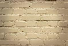 Brick wall, fence. Beige  brick wall background texture Stock Photos