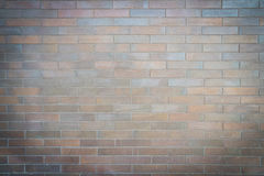 Brick wall. Fence of thin colored bricks with vignette Royalty Free Stock Photos