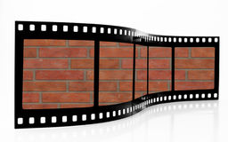 Brick wall Film Strip. Red Brick wall Film Strip Royalty Free Stock Photo
