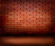 Brick wall and floor Royalty Free Stock Photo