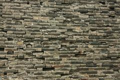Brick wall of the fortress wall of Beijing,. Ancient stones stock photography