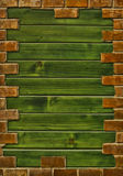 Brick wall frame Royalty Free Stock Photography