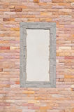 Brick wall with frame Royalty Free Stock Photography