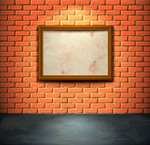 Brick wall with frame Stock Photography