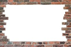 Brick Wall - Frame. Abstract background with old brick wall, frame Royalty Free Stock Images