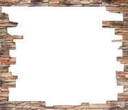 Brick wall frame. Stock Photography