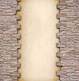 With brick wall framing Royalty Free Stock Photography