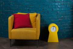 Brick wall and furniture Decoration Royalty Free Stock Image