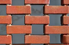 Brick wall with gaps Royalty Free Stock Photography