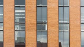 Brick wall and glass exterior building royalty free stock photography