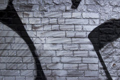 Brick Wall With Graffiti ,  Use For Background Stock Photography