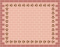 Brick wall graphic background with animal paw prints royalty free stock photography