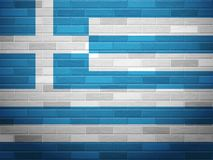 Brick wall Greece flag Royalty Free Stock Photography
