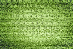 Brick wall green background Stock Image
