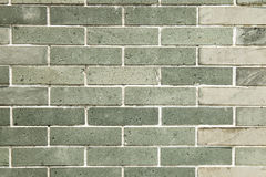 Brick wall. Green  color old brick wall Royalty Free Stock Image