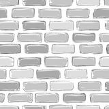 Brick wall grey, sketch for your design Royalty Free Stock Photography