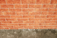 Brick wall with ground Stock Images