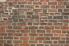 Brick wall and grout texture Royalty Free Stock Images