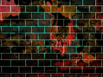 Brick wall with grung Stock Photos