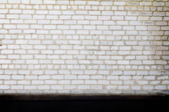 Brick wall grunge black white painted background Royalty Free Stock Photo