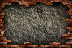 Brick wall grungy frame Royalty Free Stock Image