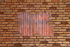 Brick wall grungy frame Stock Images
