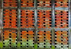 Brick wall of  half timbered house Stock Image