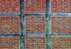 Brick wall of half timbered house Royalty Free Stock Photos