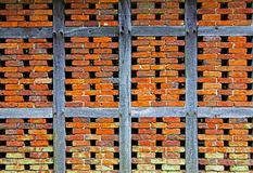 Brick wall of a half timbered house Stock Photography