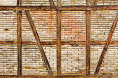Brick wall of the half timbered house Stock Photography