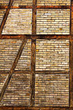 Brick wall of  half timbered house Royalty Free Stock Photography