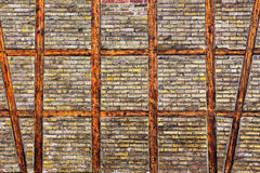 The Brick wall of  half timbered house Royalty Free Stock Image