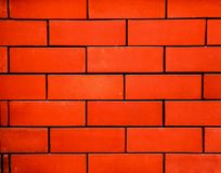 Detailed red brick wall background photo texture. royalty free stock image