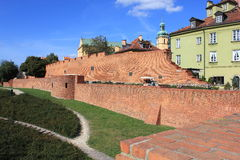 Brick wall on a hill Royalty Free Stock Image