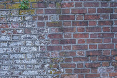 Brick wall of a Historic Civil War Fort 2 Stock Image