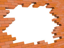 Brick wall hole Royalty Free Stock Images