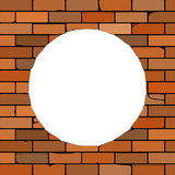 Brick wall with a hole Royalty Free Stock Images