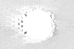Brick wall with hole Royalty Free Stock Photo