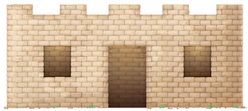 Brick wall house Stock Photo