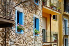 Brick wall of a house in Italy Royalty Free Stock Photography