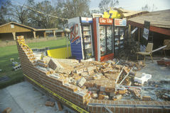 Brick Wall After Hurricane Andrew Stock Photos