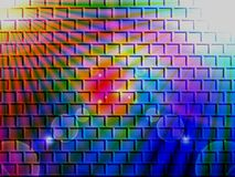 Brick wall illuminated Royalty Free Stock Photography