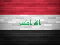 Brick wall Iraq flag Stock Photography