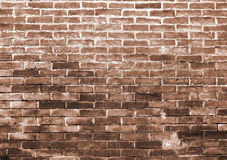 Brick wall. Italy. Fragment of the old brick wall in Bologna Royalty Free Stock Photography